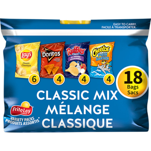 Frito Lay Chips Classic Mix 18 Bags 504 g