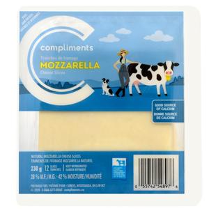 Compliments Mozzarella Cheese Slices 230 g