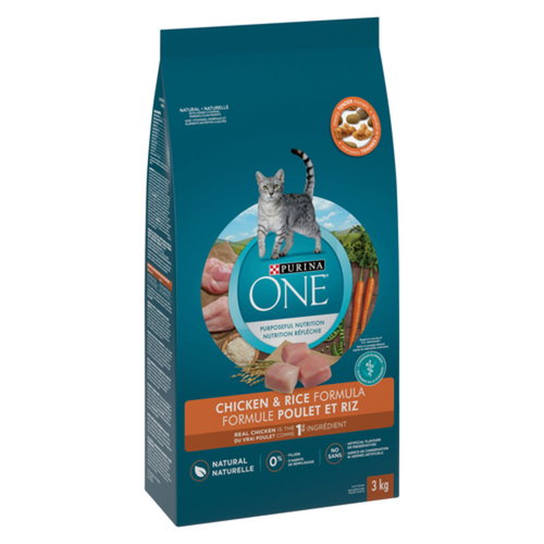 Purina ONE Dry Cat Food Natural Chicken & Rice 3 kg