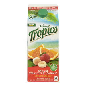 Tropicana Tropics Orange Strawberry Banana Juice 1.75 L