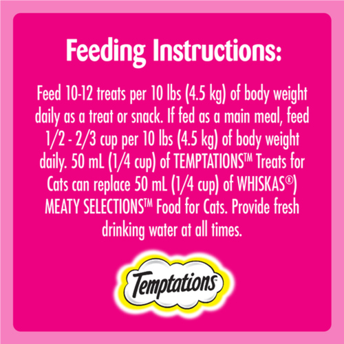 Temptations Adult Hearty Beef Flavour Cat Treats 180 g