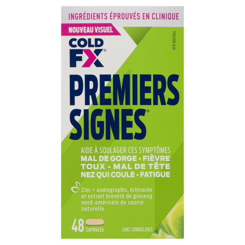 Cold-FX First Signs Flu Relief Cold Medicine 48 Capsules