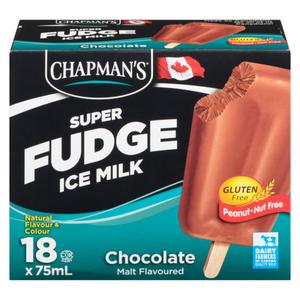 Chapman's Gluten-Free Super Fudge Ice Milk Chocolate Malt 18 x 75 ml