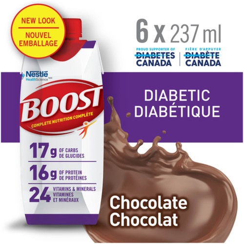 Boost Diabetic Drink Chocolate 6 x 237 ml