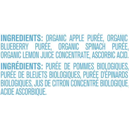 Gerber Organic Purée Apple, Blueberries & Spinach 128 ml