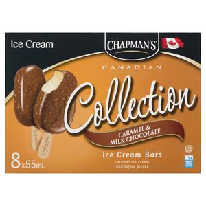 Chapman's Caramel And Milk Chocolate Ice Cream Bars 8 x 55 ml