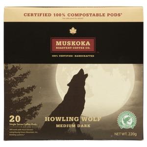 Muskoka Roastery Coffee Howling Wolf 20 Keurig Compatible Pods 220 g