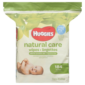 Huggies Natural Care Sensitive Unscented Baby Wipes Refill Pack 184 Wipes