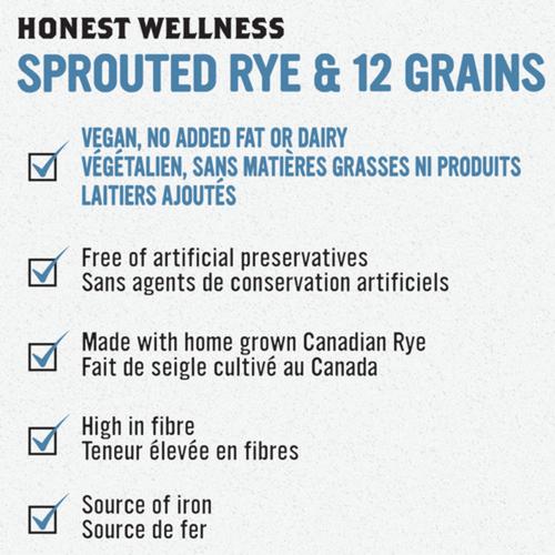 Stonemill Bakehouse Honest Wellness Sprouted Rye & 12 Grains Bread 454 g