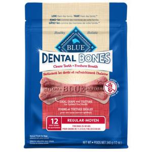 Blue Buffalo Dental Bones Regular Dog Treats 340 g