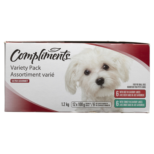 Compliments Ultra Gourmet Dog Food Variety Pack 12 x 100 g