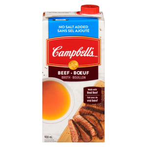 Campbell's No Salt Added Beef Broth 900 mL