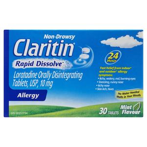 Claritin Rapid Dissolve Antihistamine 30 Tablets
