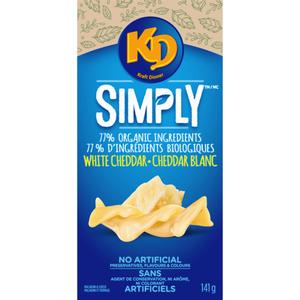 Kraft Dinner Simply Macaroni & Cheese - White Cheddar Spirals 141 g