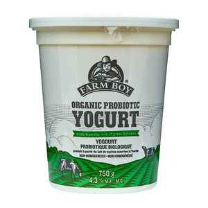 Farm Boy Organic Plain Yogurt  750 g