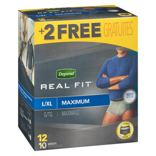Depend Real Fit Men Large Extra Large Underwear 12 Count