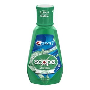 Crest Scope Classic Mouthwash Original Mint 1 L