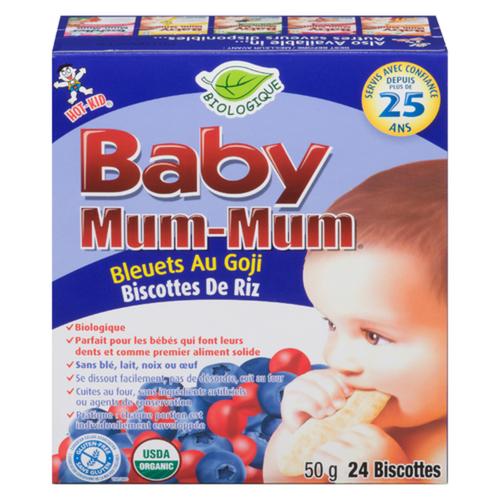 Hot-Kid Baby Mum-Mum Blueberry & Goji Baby Snacks 50 g