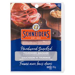 Schneiders Hardwood Smoked Thuringer Sausage Sliced Meat 175 g