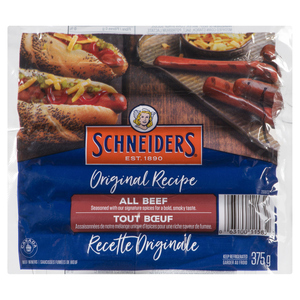Schneiders Original Recipe All Beef Wieners 375 g