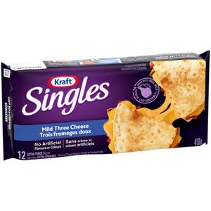 Kraft Singles Three Cheese Extra Thick Slices 410 g