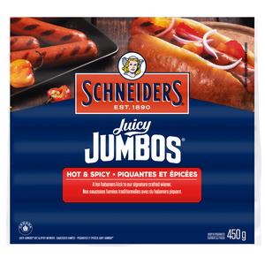 Schneiders Juicy Jumbos Hot & Spicy Wieners 450 g