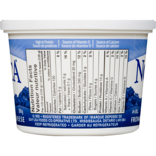 Gay Lea Nordica 4% Cottage Cheese 500 g