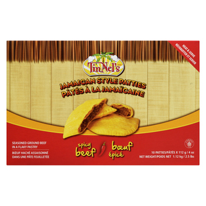 Tinnel's Jamaican Spicy Beef Patty 10 x 112 g