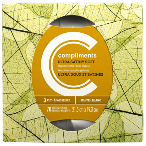 Compliments Facial Tissue 3 Ply 70 Sheets