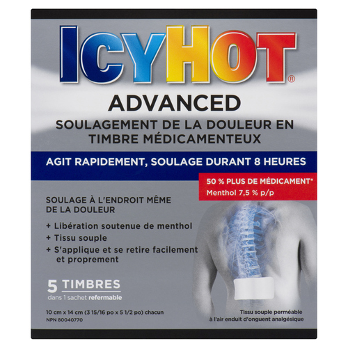 Icy Hot Pain Relief Patch Advanced 5 EA