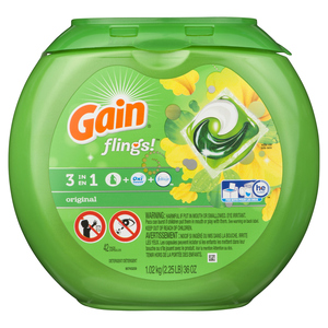 Gain Flings Laundry Detergent Original 42 Loads 943 g