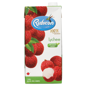 Rubicon Lychee Juice No Sugar Added 1 L