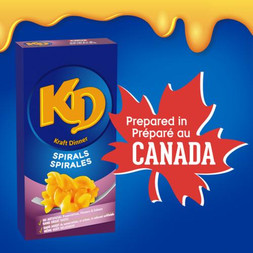 Kraft Dinner Macaroni & Cheese Spirals 175 g