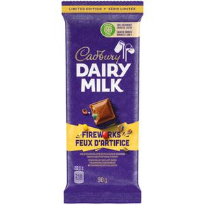 Cadbury Dairy Milk Fireworks Chocolate Bar 90 g