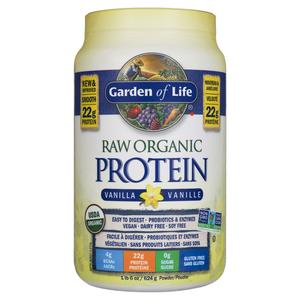 Garden of Life Organic Protein Powder Raw Vanilla 624 g
