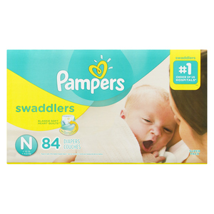 Pampers Swaddlers Newborn Diapers 84 EA