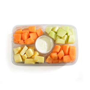Go Fresh Precut Fruit Tray With Dip 1 kg