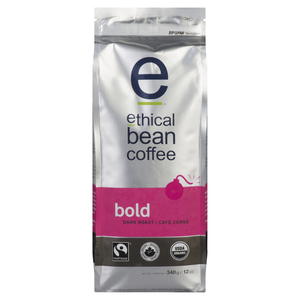 Ethical Bean Organic Bold Dark Roast Whole Bean Coffee 340 g