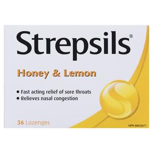 Strepsils Honey Lemon Lozenges 36 Pack