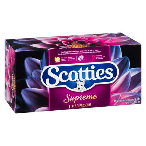 Scotties 3 Ply Supreme 88 Sheet Facial Tissue 1 ea