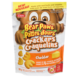 Dare Bear Paws Cheddar Crackers 180 g