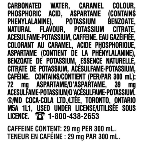 Coca-Cola Zero Sugar Mini Bottles 300 mL