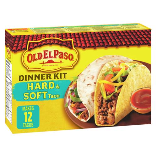 Old El Paso Taco Hard & Soft Dinner Kit 340 g
