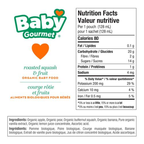 Baby Gourmet Organic Roasted Squash Fruit Medley Baby Food 128 ml