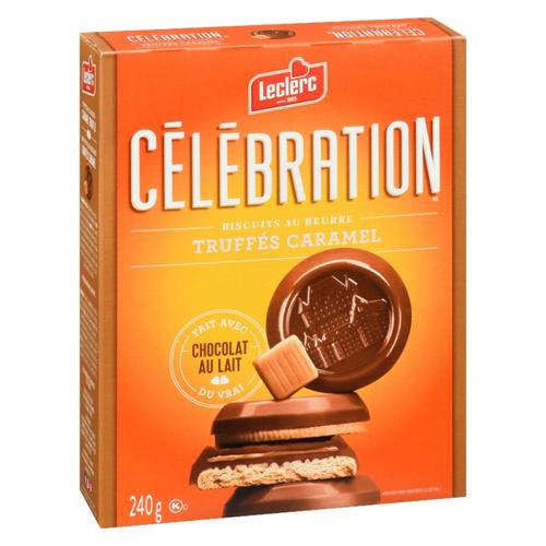 Leclerc Celebration Caramel Milk Chocolate Butter Cookies 240 g