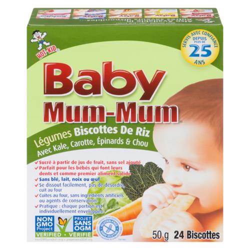 Hot-Kid Baby Mum Mum Gluten-Free Vegetable Rice Rusks 50 g