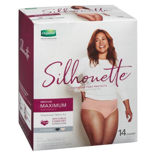 Depend Silhouette For Women Medium Underwear 14 count
