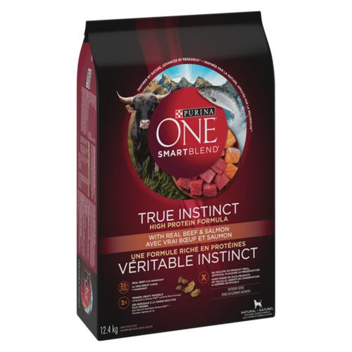 Purina ONE Smartblend True Instinct Beef & Salmon Dry Dog Food 12.4 kg