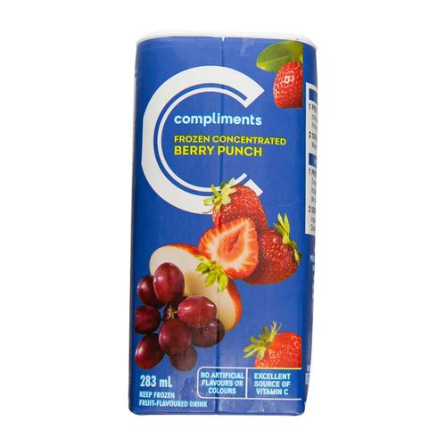 Compliments Frozen Juice Berry Punch 283 ml