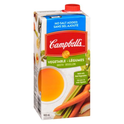 Campbell's Vegetable Broth No Salt Added 900 ml